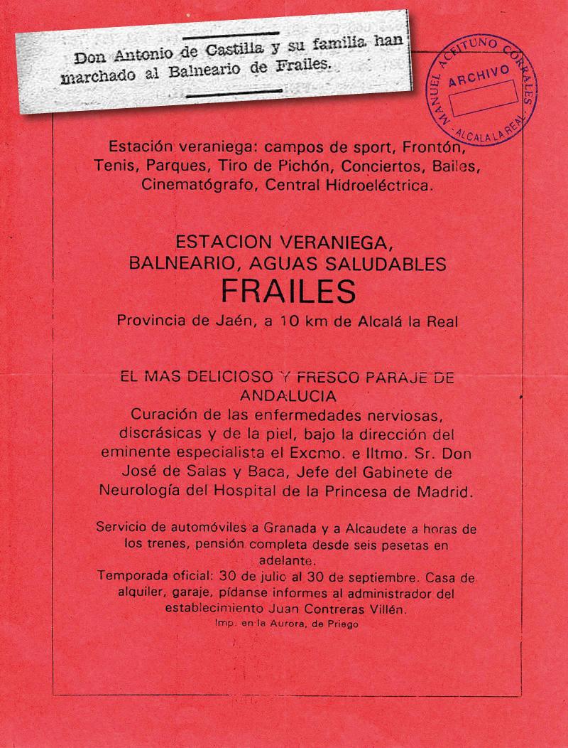 Antiguo Balneario Ardales | Propaganda